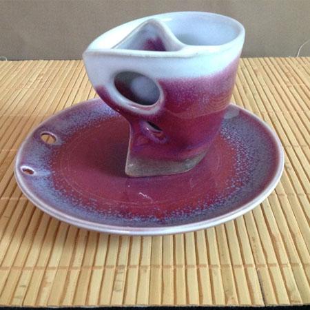 手做鈞紅咖啡杯組