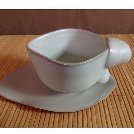 汝窯葉子咖啡杯組
