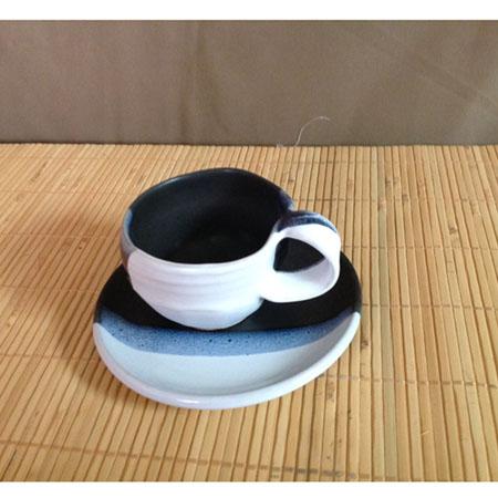 黑白雙色咖啡杯組