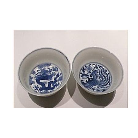 青花鳳紋泰文杯