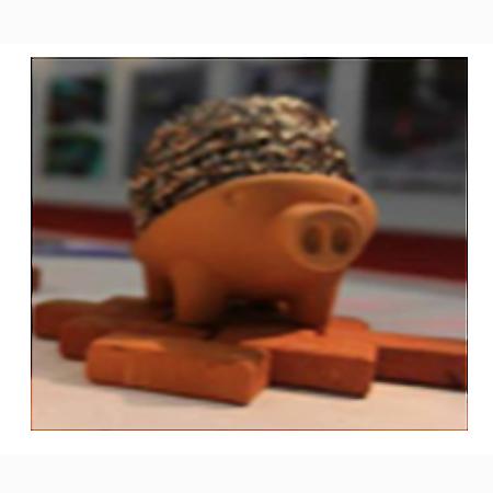 鋼絲絨吸水底座-豬仔款