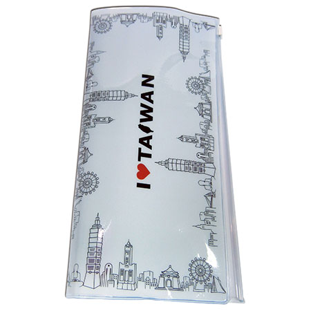 印象台灣護照套(大)白