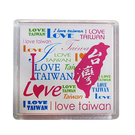 我愛台灣壓克力吸鐵-白