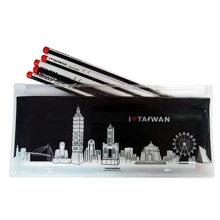 印象台灣鉛筆組-白