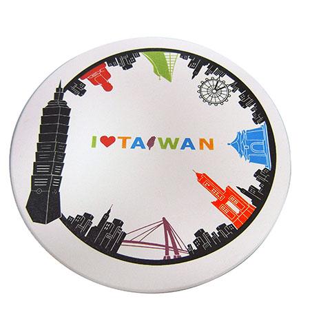印象台灣吸水杯墊 -彩