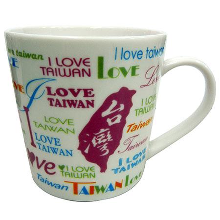 我愛台灣大馬克杯-白