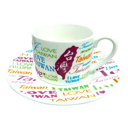 我愛台灣咖啡杯-白