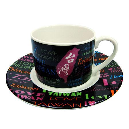 我愛台灣咖啡杯-黑